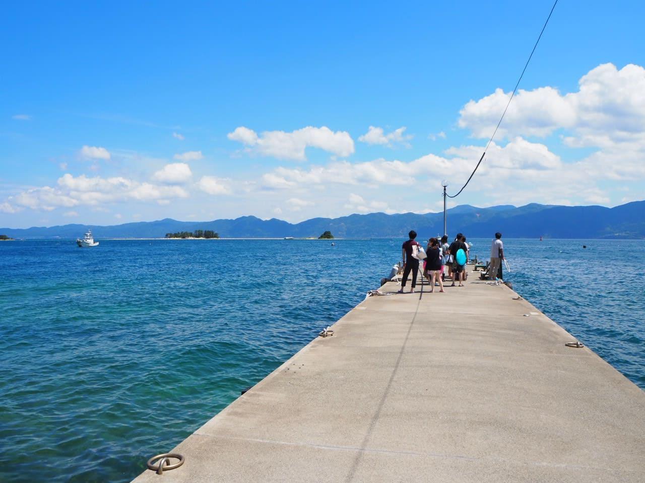 水島に行くための船が来る浅橋