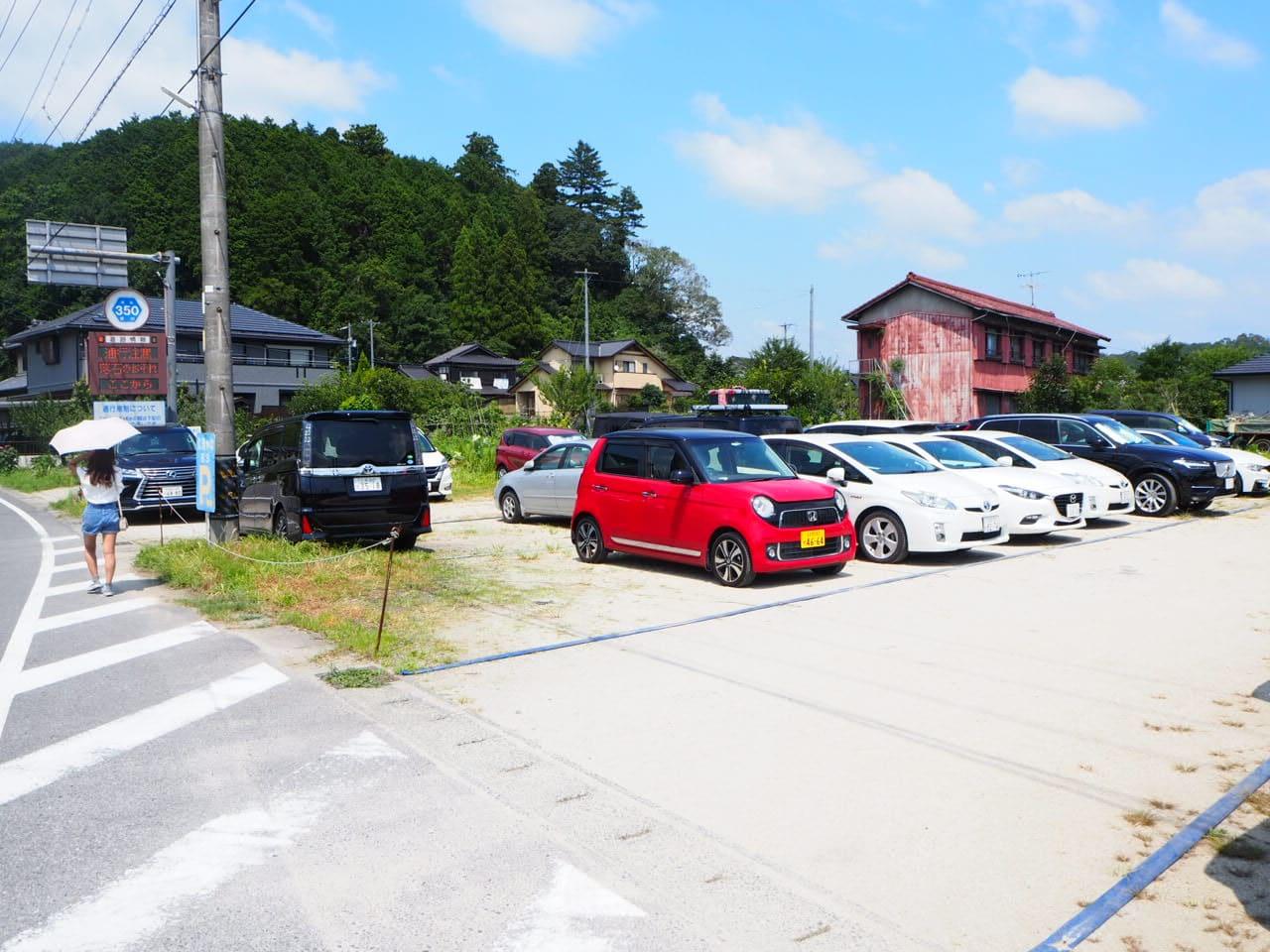 広瀬やなの駐車場の混雑状況