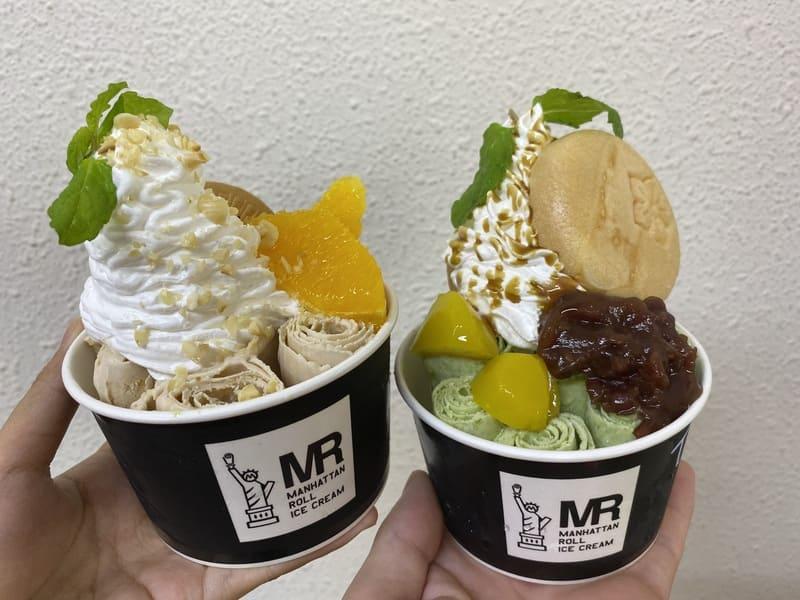 マンハッタンロールアイスクリームのロールアイス