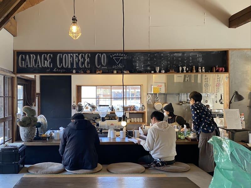 喫茶hirayaのカウンター